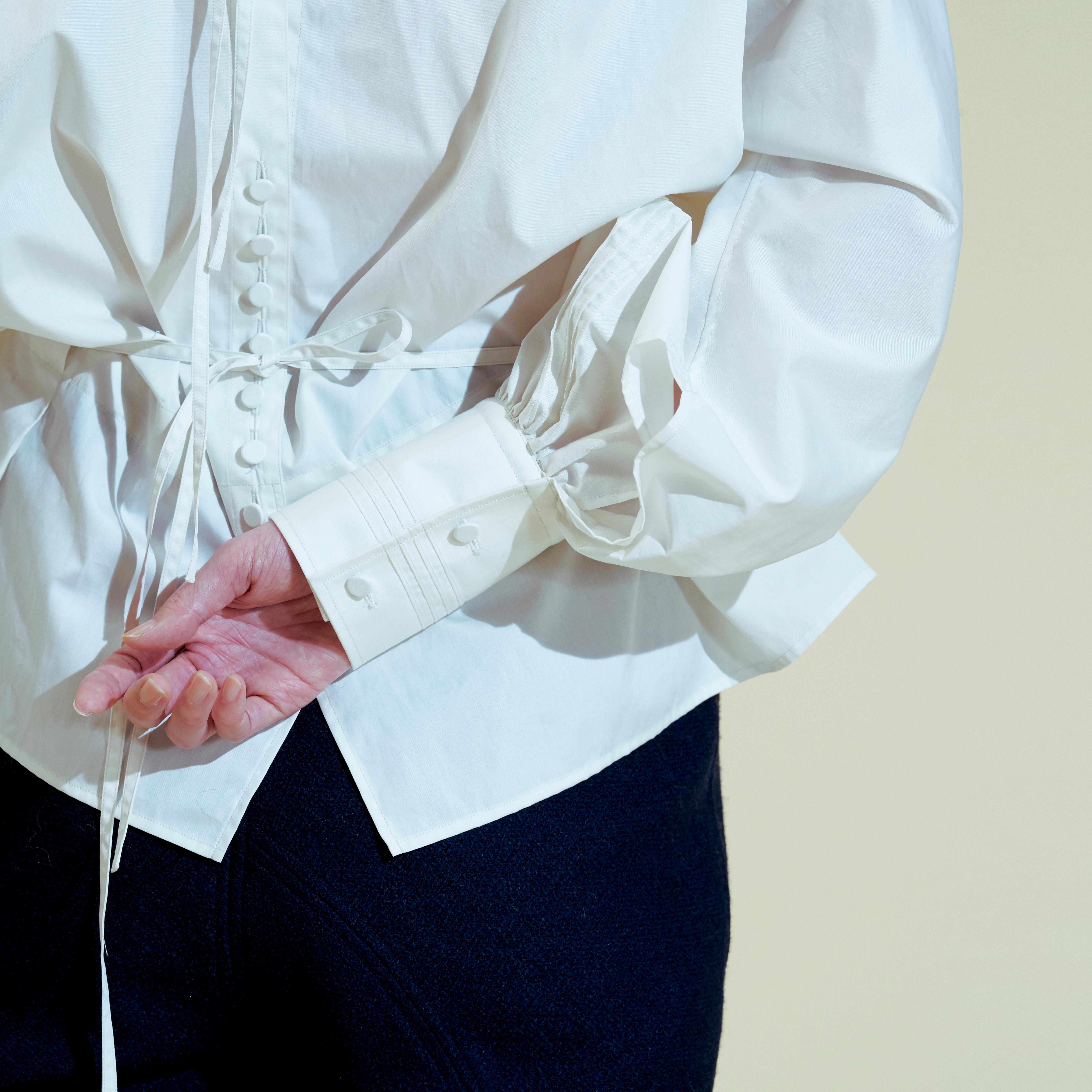 Square neck cotton blouse