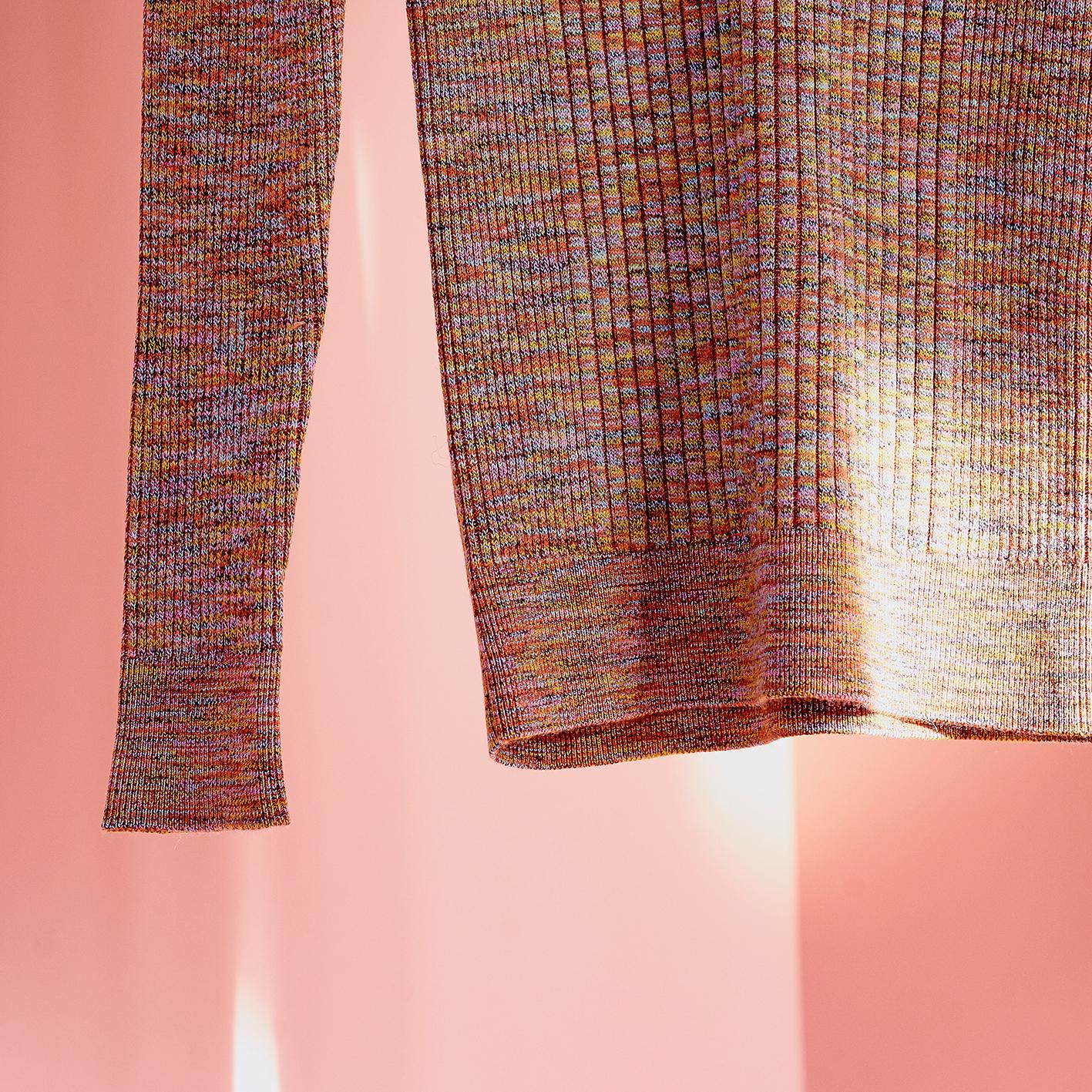 ac/linen rib pullover